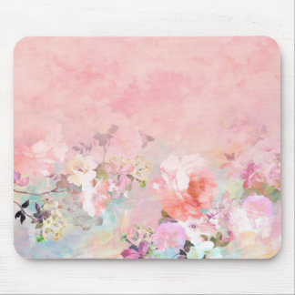 Modern blush watercolor ombre floral watercolor mouse pad