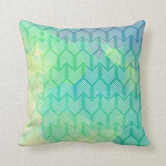 Modern Boho Watercolor Arrows Cushion