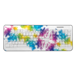 Modern Bokeh Abstract Light Wireless Keyboard