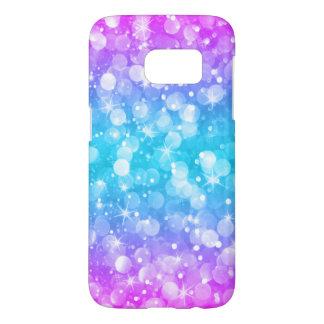 Modern Bokeh Glitter Ombre Pink & Blue