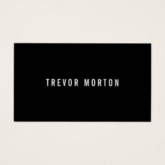 Modern bold black minimal professional business card
