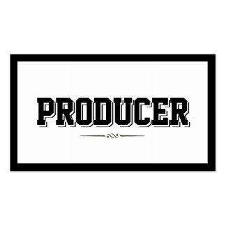 Modern Bold Border Producer Business Card
