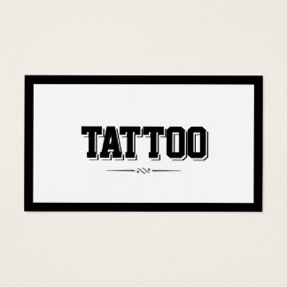 Modern Bold Border Tattoo Business Card