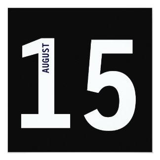 Modern Bold Calendar Bachelor Birthday Party 13 Cm X 13 Cm Square Invitation Card