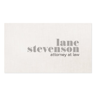 Modern Bold Font Attorney at Law Business Card