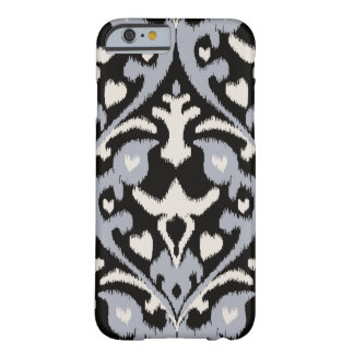 Modern bold grey black ikat tribal pattern barely there iPhone 6 case