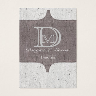 Modern Bold Monogram Vintage Business Card