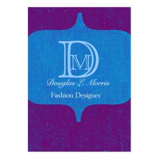 Modern Bold Monogram Vintage Business Cards