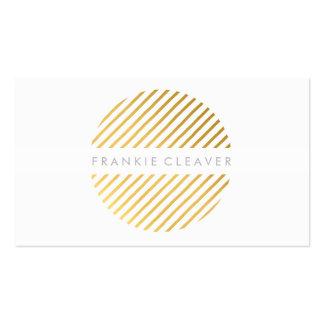 MODERN BOLD SPOT angled stripe pattern gold foil Business Card