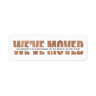MODERN BOLD | WE'VE MOVED RETURN ADDRESS LABEL