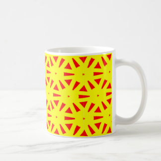 Modern Bold Yellow and Red Suns Abstract Coffee Mug