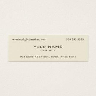 Modern Bone Mini Business Card