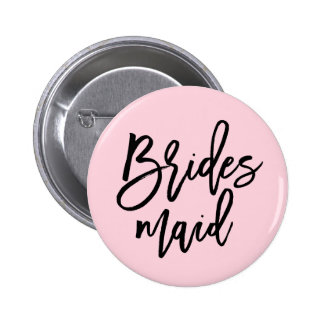 Modern Bridal Party Bridesmaid 6 Cm Round Badge