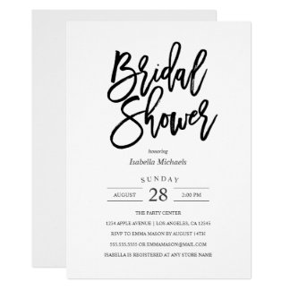 Modern Bride Bridal Shower Invitation