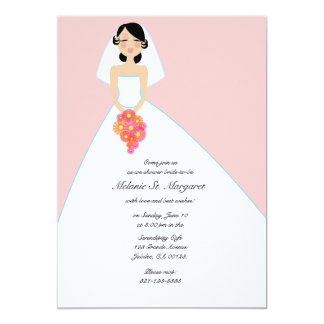 modern bride BRIDAL SHOWER invitation PINK 2