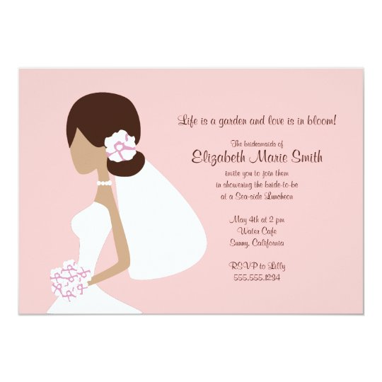 Modern Bride Silhouette Invitation
