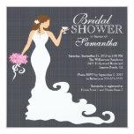 Modern Bride Wine Bridal Shower Invitations 13 Cm X 13 Cm Square Invitation Card