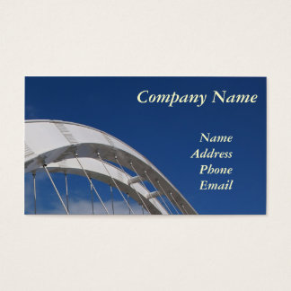 Modern Bridge Design with Blue Sky Business Card