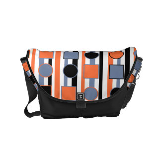 Modern bright abstract shapes pattern obgb courier bags