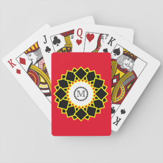 Modern Bright and Bold Monogram Playing Cards