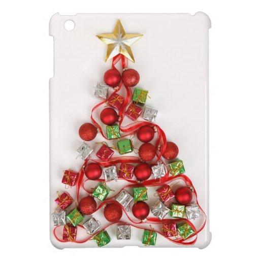Modern Bright Christmas Tree Decorations Ornaments iPad Mini Covers