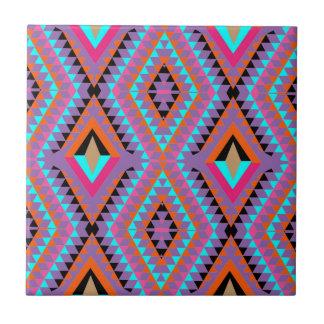 Modern Bright Colorful Geometric Patterned Ceramic Tile