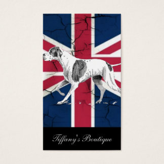 modern british flag union jack english hunt dog