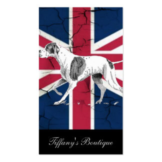 modern british flag union jack english hunt dog business cards