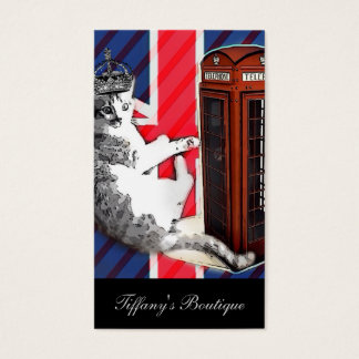 modern british flag  union jack london cat fashion