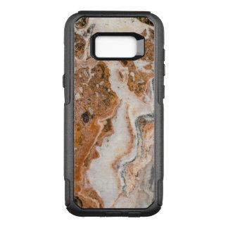 Modern Brown & Beige Marble Stone OtterBox Commuter Samsung Galaxy S8+ Case