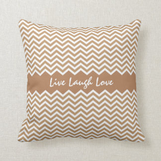 Modern brown chevron zigzag pattern custom pillow