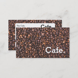 Modern brown coffee beans loyalty punch-card cafe