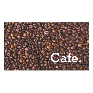 Modern brown coffee beans loyalty punch-card cafe pack of standard business cards