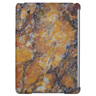 Modern Brown Faux Marble Stone 3 Cover For iPad Air