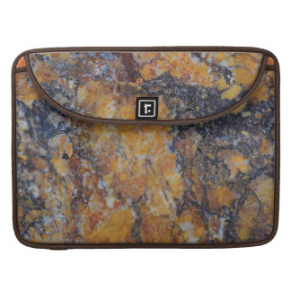 Modern Brown Faux Marble Texture Sleeve For MacBook Pro