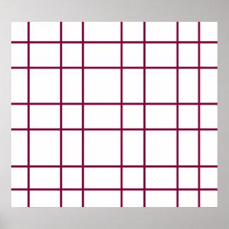 Modern brown grid pattern poster