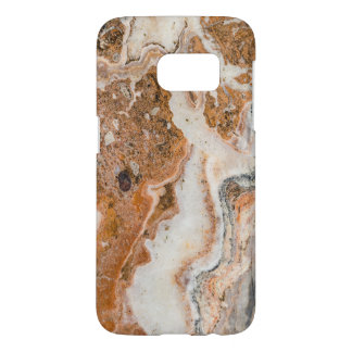 Modern Brown & White Marble Swirls