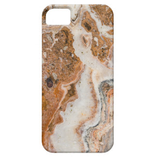 Modern Brown & White Marble Swirls Case For The iPhone 5