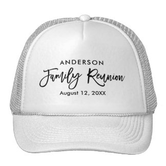 Modern Brush Script Family Reunion Cap