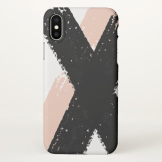 Modern brush stroke iPhone X case Matte finish