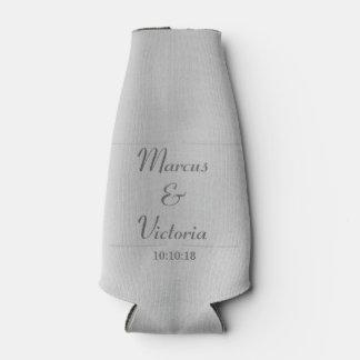 Modern Brushed Metal Wedding Bottle Cooler