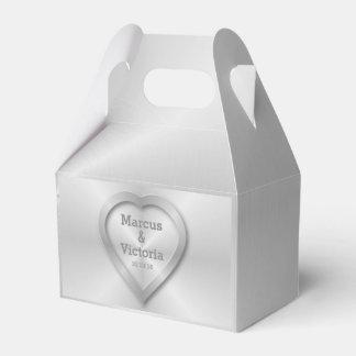 Modern Brushed Metal Wedding Favour Box