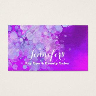 Modern Bubbles Beauty Salon Business Card