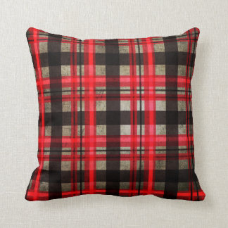 Modern Buffalo Plaid Tartan Urban Retro Cushion