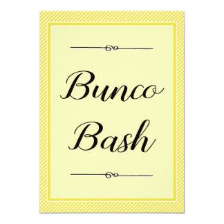 Modern Bunco Invite - Stylish Yellow Stripe
