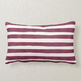 Modern Burgundy Stripes Autumn Home Throw Pillow