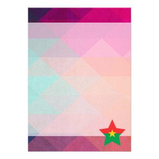 Modern Burkina Faso Flag 13 Cm X 18 Cm Invitation Card