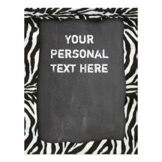 Modern burning zebra print flyer