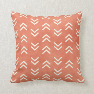 Modern Burnt Orange Arrow Pattern Throw Pillow