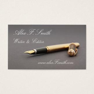 Modern Business Card for Writen Editor